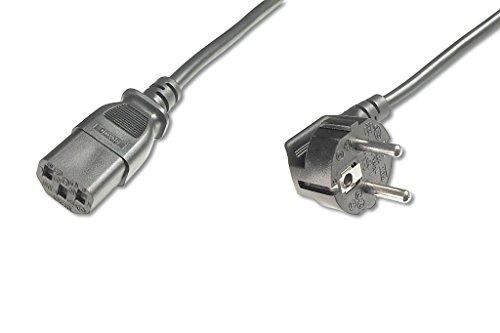 ASSMANN Netzanschluss-, Kaltgerätekabel, EU Version, CEE 7/7 (Typ-F) 90° auf C13, Stecker/Buchse, H05VV-F3G, 0.75 mm², Länge 1.8 m