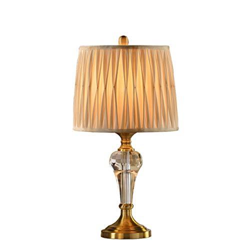 HZS Estilo Europeo Simple Lámpara de Cristal de Lujo Lámpara de cabecera de Dormitorio Lámpara de Techo Moderna de Estilo Creativo de América Decoración de la Sala de Estar