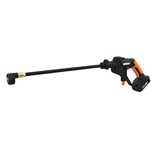 WORX WG625 20V Hydroshot Cordless Portable Power Cleaner, Black and Orange