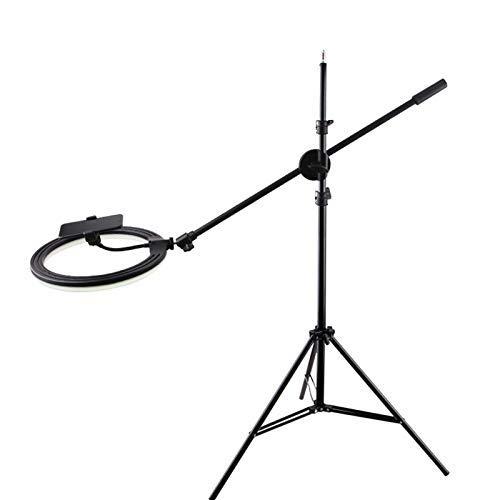 FHQCU Soporte Móvil Universal Soporte Rotación Libre de 360 Grados, Diseño Ergonómico, Use el Soporte para Teléfono Móvil Cuando Juegue, para Teléfonos Inteligentes,210cm Frame+30cm Lamp