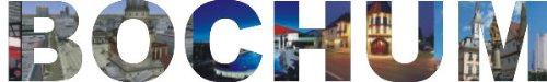INDIGOS UG - Wandtattoo Wandsticker Wandaufkleber - Aufkleber farbige Wandschrift Städtename Städtename Bochum mit Sehenswürdigkeiten 40 x 6 cm Länge