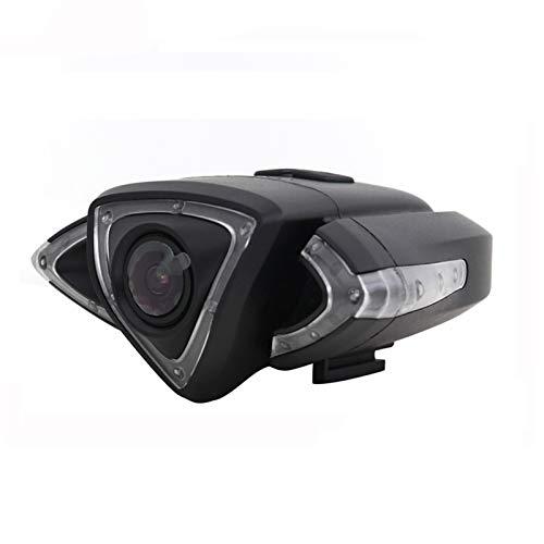 GMtes Telecamera per Bicicletta Multifunzionale, videocamera per Bici Anteriore e Posteriore Impermeabile con Supporto per Telefono, indicatori di direzione a LED e spie, tachimetro, GPS,Front