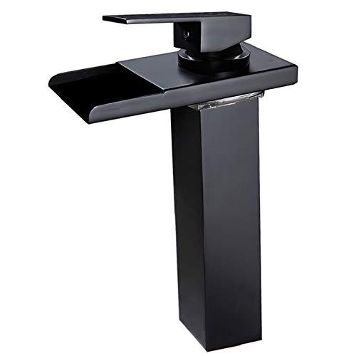 wovier cromo/níquel cepillado/aceitado bronce cascada, Grifo de baño sola manija...