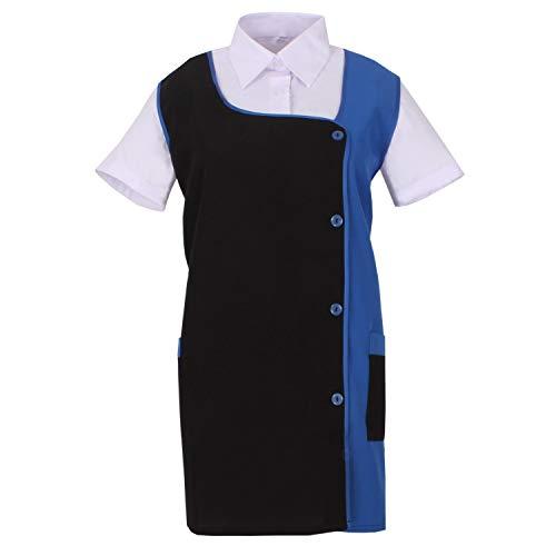 MISEMIYA - Grembiule Impermeabile, Camice da Laboratorio Donna Uniforme Lavoro Clinica Ospedale Pulizia Veterinario Ref.630 - XX-Large, Blu