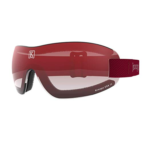 Kroop's I.K. 91 Goggles - Protection from Wind, Dust, Snow, and Rain. Red