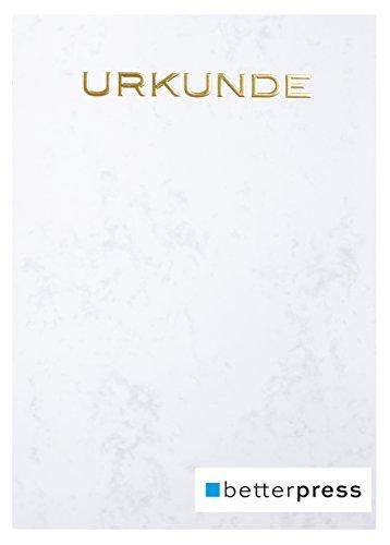 Urkunden Vordrucke geprägt Reliefprägung 200 g/m² din a4 10 Stück grau Betterpress (Gold)
