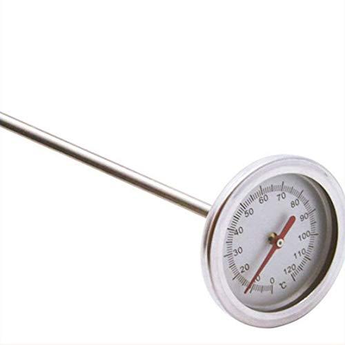 XYUN 20 inch 50 cm lengte 0 °C -120 °C compost bodem thermometer premium food grade roestvrij stalen metalen meetsonde detector