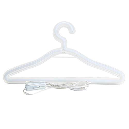 MagiDeal Lámpara colgante con luz de neón LED, soporte para ropa, lámpara colgante con USB para el dormitorio, hogar, boda, tienda de ropa, decoración de - Yeelow Luz