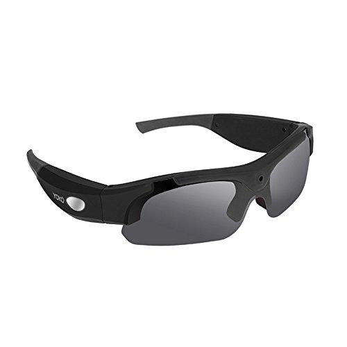 OOZIMO HD 1080P Kamera Brillen 8.0MP Pixel Camcorder DV Videorecorder Sonnenbrille,Black