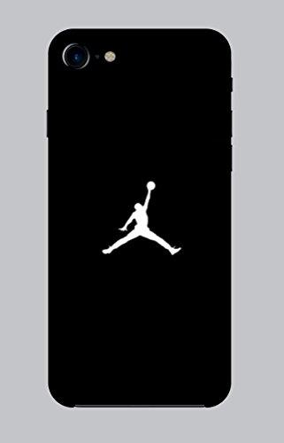 WorldSell Flexible Silikon Schutzhülle Ultra-Slim Gel TPU Bumper Cover Durchsichtige Rückschale Weiche Silikon Ultradünne Handyhülle für iPhone 7-8 Brands 028 Jordan