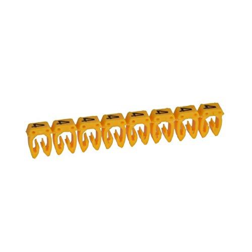 Marcador para cableado de 0,5 a 1,5 mm² n°4, color amarillo, 18,7 x 6,5 x 3,2 centímetros (referencia: Legrand 38214)