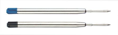 20 (10x 2) Kugelschreiber Großraumminen Minen 10x schwarz & blau