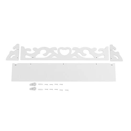 HHuin Tapiz blanco para colgar en la pared, práctico soporte de almacenamiento para el hogar, dormitorio, decoración para el hogar