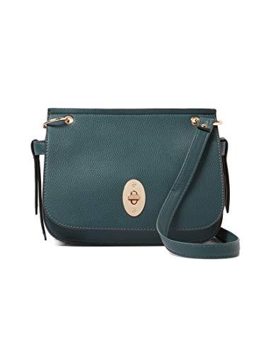TOM TAILOR Umhängetasche Damen Krystal, Grün (Petrol), 25x19.5x10.5 cm, TOM TAILOR Handtaschen, Taschen für Damen