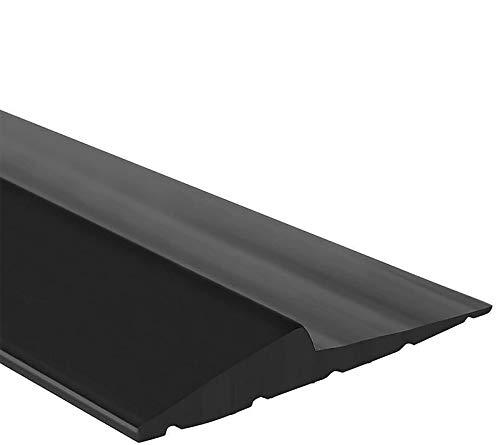 Universal Garage Door Seals Bottom Rubber Weather Stripping Threshold Seal ,Weatherproof DIY Rubber Weather Stripping Replacement Easy Installation, [Not Include Sealant/Adhesive](16 Ft, Black)