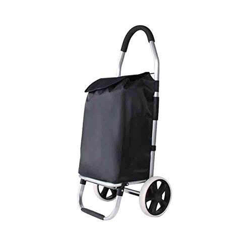 ZLININ Y-Longhair Carritos de la Compra, cochecitos de escaleras, carritos de supermercado Ancianos, carros Plegables portátiles, carritos.Bolsas Lavables comerciales. Carritos de la Compra
