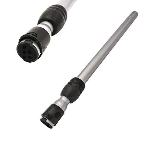 Teleskoprohr verstellbar für Siemens VSQ8SIL66A Staubsauger Q 8.0 silencePower - Staubsaugerrohr, Saugrohr mit Einrastunfktion am Griff/Düse von Microsafe