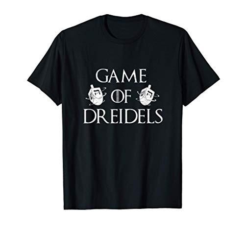 Happy Hanukkah Is Coming Game Of Dreidels Jewish Menorah T-Shirt