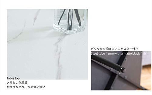 Lynd(リンド)ネストテーブル2個セット大理石風リビング大小セットセンターテーブルシンプルマーブル60在宅丸形