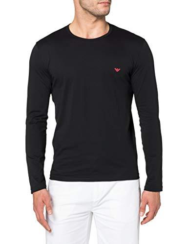 Emporio Armani Underwear T-Shirt Pure Cotton Camiseta, Negro, M para Hombre