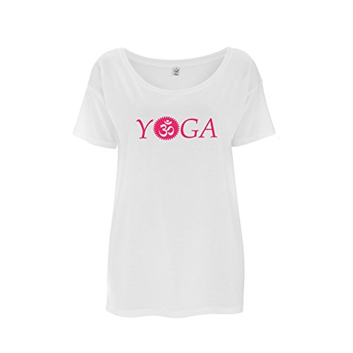 Da Londra Womens Over-Sized OM (AUM) Yoga Top Made from Eucalyptus Fibre and Organic...