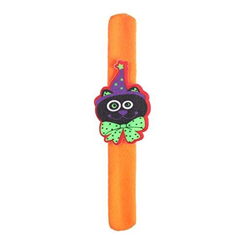 HXML Creative Halloween Slap Bracelets Bague À Main Bracelet Anniversaire Fête Favors Fournitures pour Enfants Adultes Poignet Décoration,D