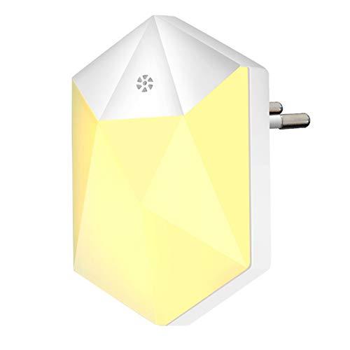 Cutogain LED Night Light, Deknei Night Lamp Enchufe de Pared automático y Play with Twilight Sensor, Night Light Child Lighting para Baby Room, salón, Garaje, baño, Pasillo