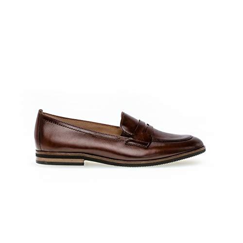 Gabor Damen Slipper, Frauen Halbschuhe,Best Fitting, businessschuh schlupfhalbschuh Slip-on College Schuh Loafer,Sattel (Effekt),40 EU / 6.5 UK