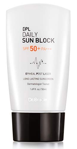 EPL Daily Sun Block SPF 50+ PA+++ Face Sunscreen, Facial Sun Protection Tone-Up Cream, Brightening, Relaxation for Damaged and Sensitive Skin, Dermatologist Tested (1.69oz) by Dr. Oracle