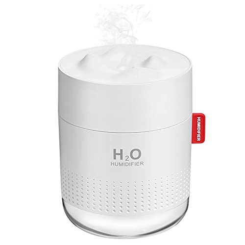Product Image of the Portable Mini Humidifier, 500ml Small Cool Mist Humidifier, USB Personal Desktop Humidifier for Baby Bedroom Travel Office Home, Auto Shut-Off, 2 Mist Modes, Super Quiet, White