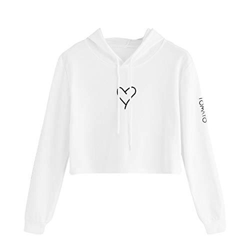 Blouse sweatshirt dames meisjes mode casual capuchon love print shirt met lange mouwen jurk kleding blouse top liefde bedrukte FRAUIT mode prachtig