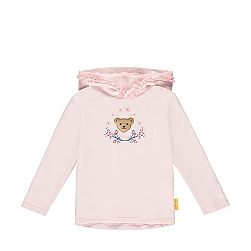 Steiff Mädchen mit süßer Teddybärapplikation Sweatshirt, Rosa (Barely Pink 2560), 098
