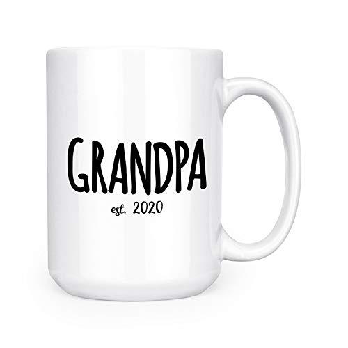Grandpa Est. 2020 - New Grandparent - 15oz Deluxe Double-Sided Coffee Tea Mug