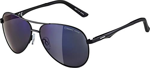 Alpina Sonnenbrille Casual A 107 Outdoorsport-brille, Black Matt, One Size