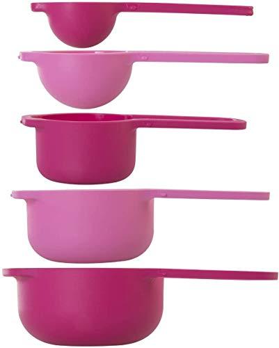wenco Messlöffel-Set, 5-teilig: 7,5/15/60/85/125 ml, Kunststoff, Pink/Rosa, 519304