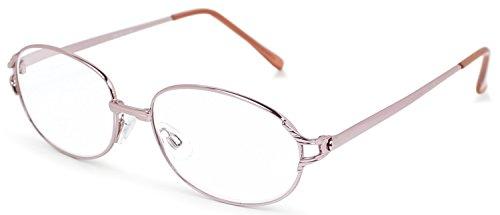 デューク 老眼鏡 +1.0 度数 メタルフレーム ソフトケース付き ピンクゴールド DR-92+1.00