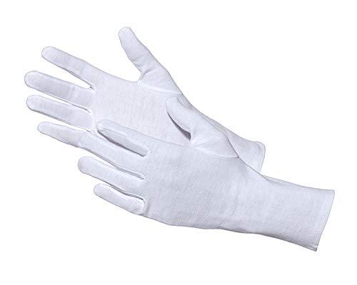 Jah 3101algodón Guante, que garantiza, nivel intermedio, color blanco, tamaño 9, 24unidades)