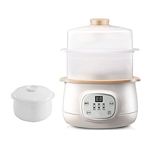 Elektrischer Eintopf 1.5L Ceramic Liner Slow Cooker Haushalts-Smart-Elektroherd Mit 3 Kocheinstellungen Und Abnehmbarer Keramikschale Für 2-3 Personen 260W,B
