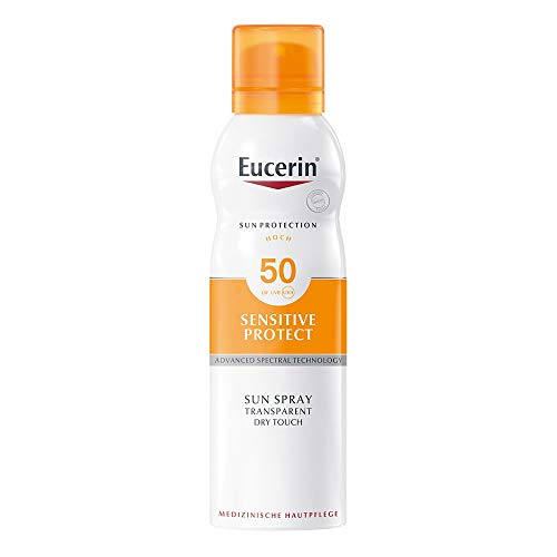 Eucerin Sensitive Protect Sun Spray Transparent Dry Touch LSF 50, 200 ml Lösung