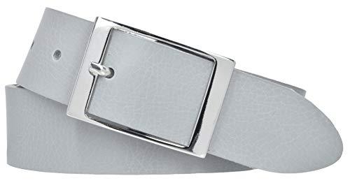 Mytem-Gear Damen Gürtel Leder Belt Ledergürtel Nappaleder 35 mm Damengürtel (80, Hellgrau)