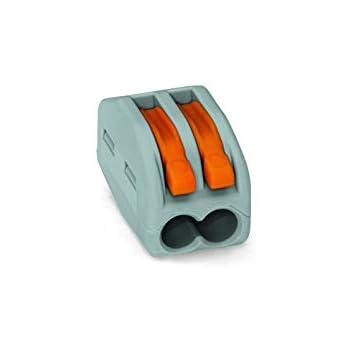 Wago-221 412-lever-clamp-2-way-connectors-terminals-pack de 1//à 100 orange