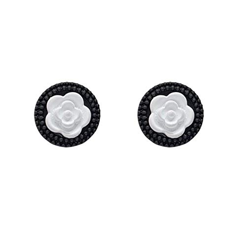 Romantic Elegant Simple White Flower Petal Drop Earrings Korean Fashion Pendent Earrings for Women Girls Kids Ear Jewelry Gift 2pcs