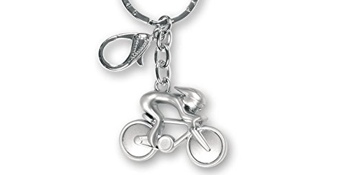 Llavero Bicicleta de Metal Acabado Mate Ciclista. 1 Unidad