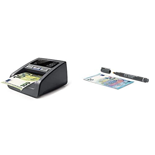 Safescan 155-S Noir - Détecteur automatique de faux billets pour une vérification à 100% des billets de banque & 30 - Stylo détecteur de faux billets pour la vérification des billets de banque