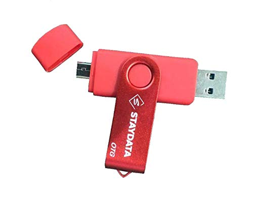 Staydata Memoria USB 3.0 Pendrive 64GB OTG para Dispositivos Android,  PC/Tableta/Mac (Red)