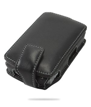 Original MELKCO Tasche für O2 XDA Orbit II Flip Type (Black) inkl. Gürtelclip