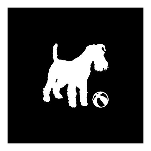 Security Accessory YINGGUICHENG Shop 15x14.5CM Vinilo de la Etiqueta Linda del Perro de Perrito del Terrier de Coche de la Etiqueta Negro/Plata C10-00479 (Color : Silver)
