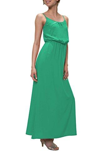 ONLY Damen Maxikleid Trägerkleid Slip Dress Sommerkleid Basic (L, Verde)