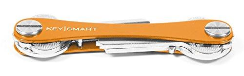 KeySmart - Llavero y organizador de llaves compacto (hasta 8 llaves, Naranja)