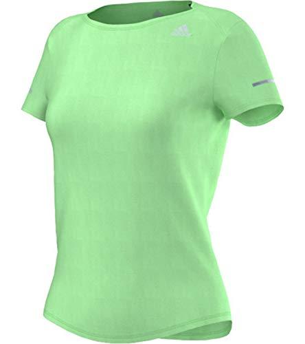 adidas Damen T-Shirt Sequencials Climalite Run, Light Flash Green S15, M